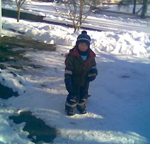 Carl ute i snön!